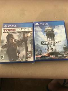 PS4 bundle sale battlefront and tomb raider