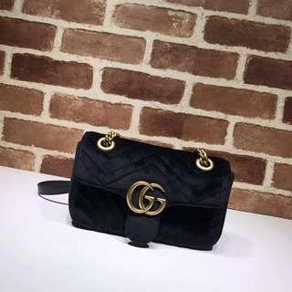 Gucci marmont mini flap bag suede
