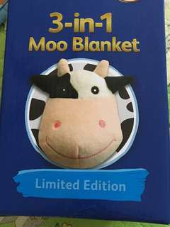 3-in-1 moo blanket Friso pillow soft toy