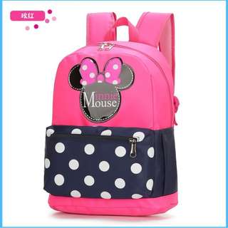 PINK Cute Cartoon Mickey&Minnie Mouse Unisex Backpack