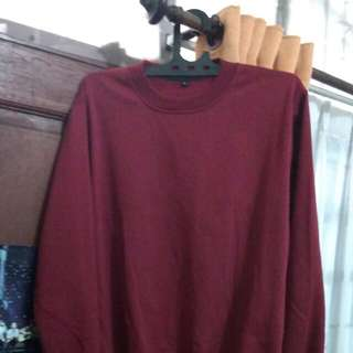 SWEATER POLOS MAROON👕