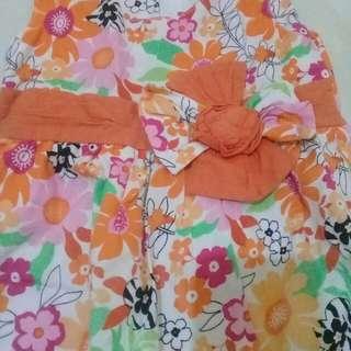 dress bunga orens