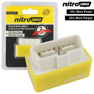 NITRO OBD2 Plug and Drive Chip Tuning Box Increase Engine Performance 35% & Fuel Saving up to 15%
