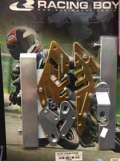 Alloy Chain Cover(Yamaha SRLZ) Gold/Red
