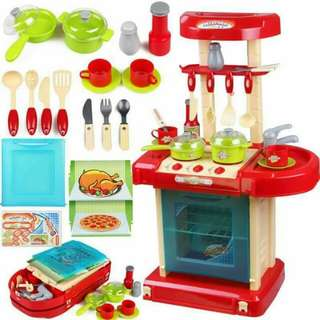 Best selling kitchen play set  resell 750 o nly😃 66cm high !!    Pink and red.     #EC