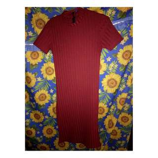 dress(maroon) stretchable