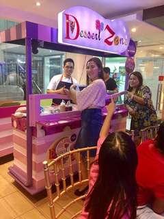 Dessert food cart