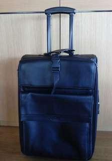 🚚 Samsonite 真皮登機行李箱