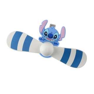 日本 Disney Store 直送 Stitch 史迪仔 iPhone 專用 USB 風扇仔
