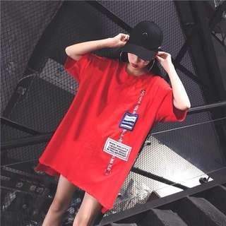 Korean Ulzzang: HARAJUKU Patchwork Oversize Dress