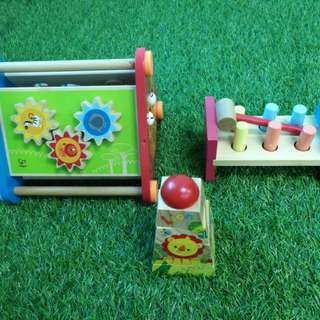 Hape, Ikea and Fisher Price wooden toys