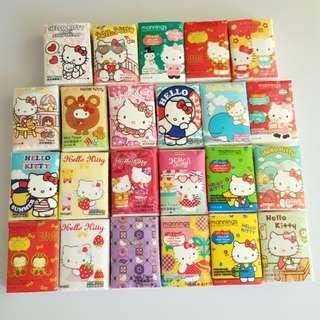萬寧 Hello Kitty 紙巾 包裝紙巾 23包 款款不同 絕版 儲咗 3年