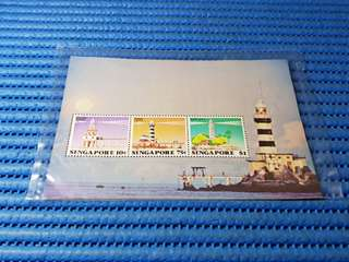 Singapore Miniature Sheet Lighthouse Commemorative Stamp Issue