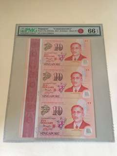 SG50 Commemorative (S3) $10 3 in 1 Uncut