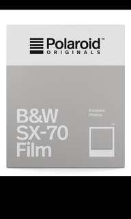 Polaroid sx70 flim - black and white