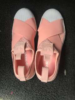 Adidas superstar slip on pink