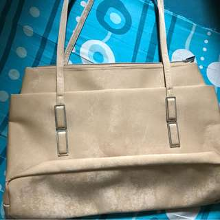 Vintage Plain Nude Bag