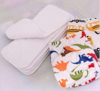 Cloth diapers with insert