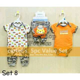 5pc Baby Onesie Set - SET 8