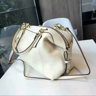 COACH LENOX Satchel in Chalk Pebbled Leather NOW FOR ONLY RM659!!!