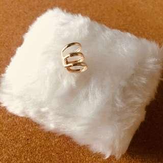 Ear Clip Cuff Earring (Gold)