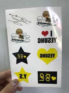 Super Junior 藝聲 云音週邊 紋身貼紙