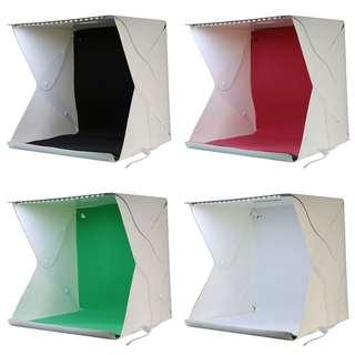Photo Studio Mini 3 Button dengan LED dan 4PCS Background Size L - White