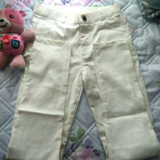 White stretch jeans size 25 to 26