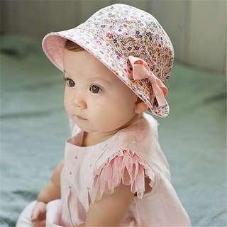 Instock - pink reversible hat, baby infant toddler girl children sweet kid happy abcdefgh so pretty