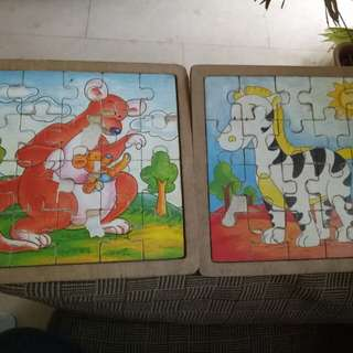 Animal wooden puzzle