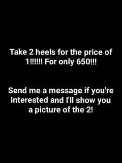 Take 2 shoes for the price of 1!!!