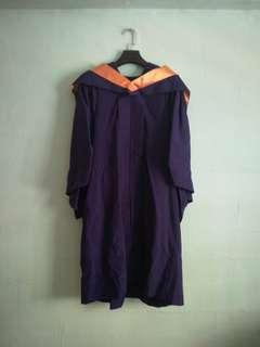 NUS Graduation Gown Bachelor of Social Sciences For Sale