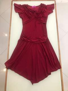 Sharlene red party dress