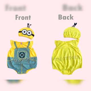 Minion baby romper 100% cotton for 4-15months