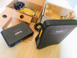 SingTel Router and Modem