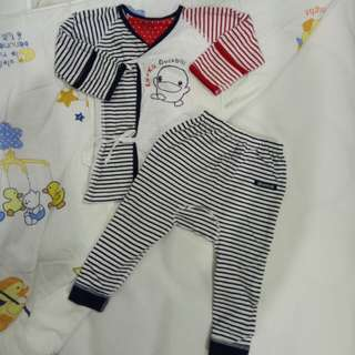 嬰幼兒棉質肚衣套裝_6~12m