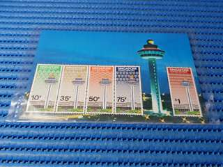 Singapore Miniature Sheet Singapore Changi Airport Commemorative Stamp Issue
