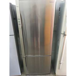 Panasonic 2Door Fridge Peti Ais Inverter Metallic