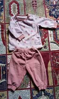 Girl's Fleece Pyjama #20under