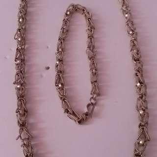 金屬藝術頸鍊,手鍊
