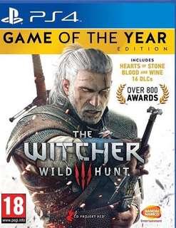 全新PS4 The Witcher 3  巫師3:狂獵 年度版 英文