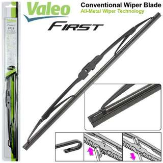 ORIGINAL VALEO FIRST Full Metal Frame Natural Rubber High Quality Conventional Wiper Blade