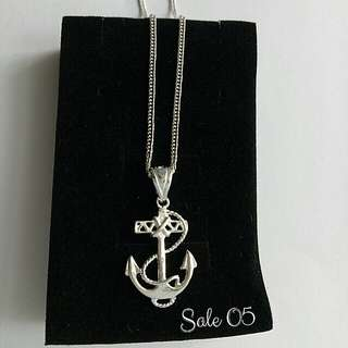 Authentic 925 Italy silver anchor necklace for him