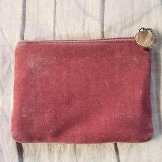 Rubi (Cotton On) Velvet pink pouch