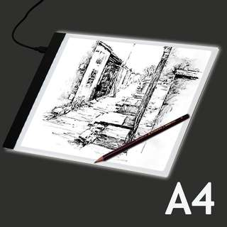 【Ready Stock】A4 LED Stencil Board Light Box Artist Thin Art Draw Tracing Copy Plate Seller