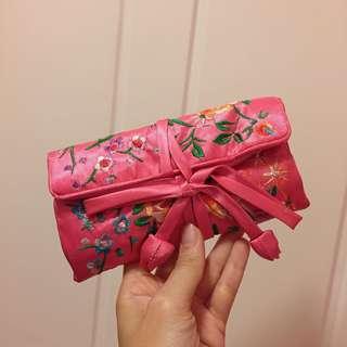 中式刺繡化妝袋/小物袋