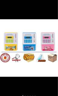 ATM coin bank dual languages hello kitty/ minions