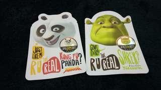 Masker Shrek & Kungfu Panda asli dari Korea