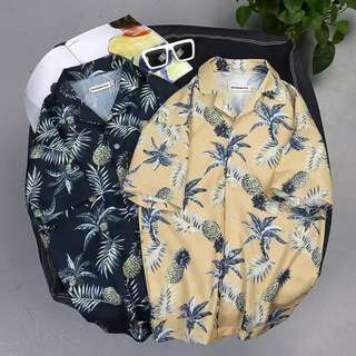 Last piece Summer loose Hawaii flower shirt