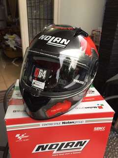 Helm Nolan N64 C.CHECA SCRATCHED CHROME